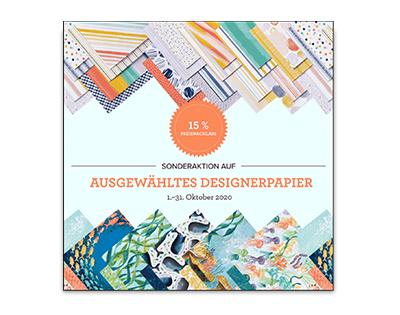 15% Preisnachlass auf ausgewähltes Designerpapier 1