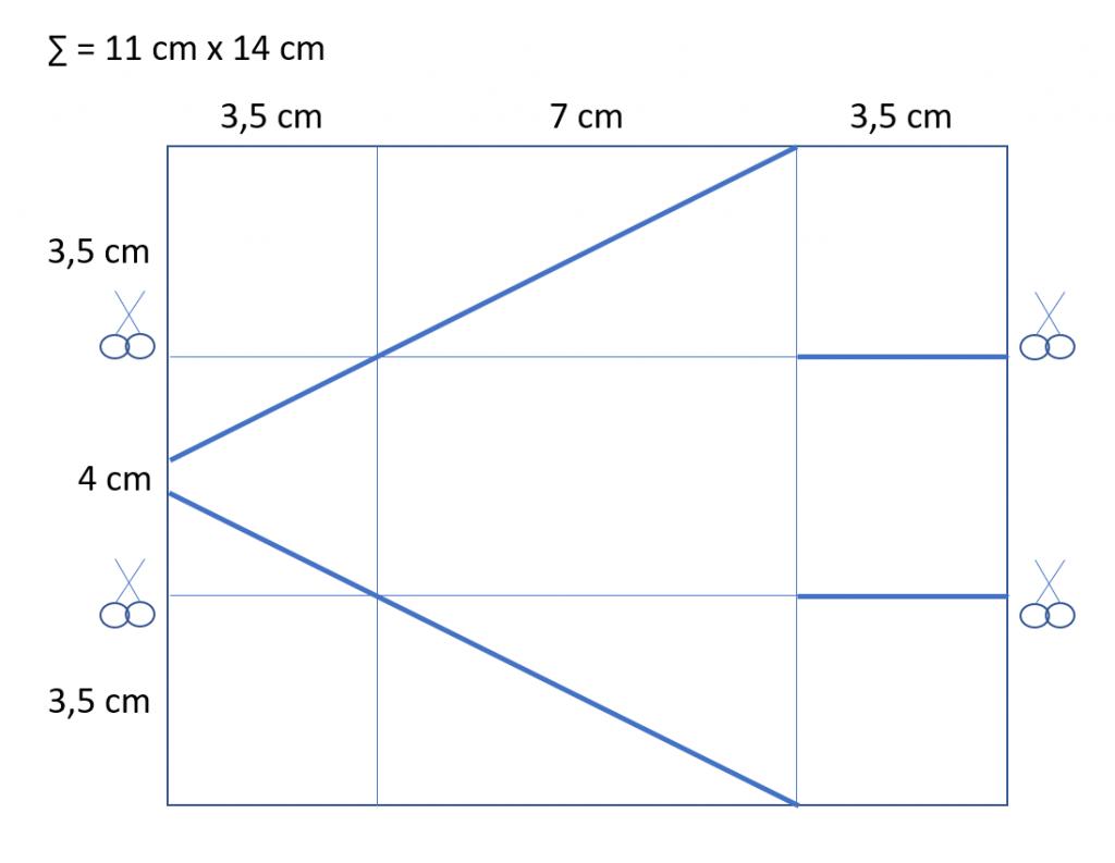 "Diagonale Box ""Danke von Herzen"" 3"