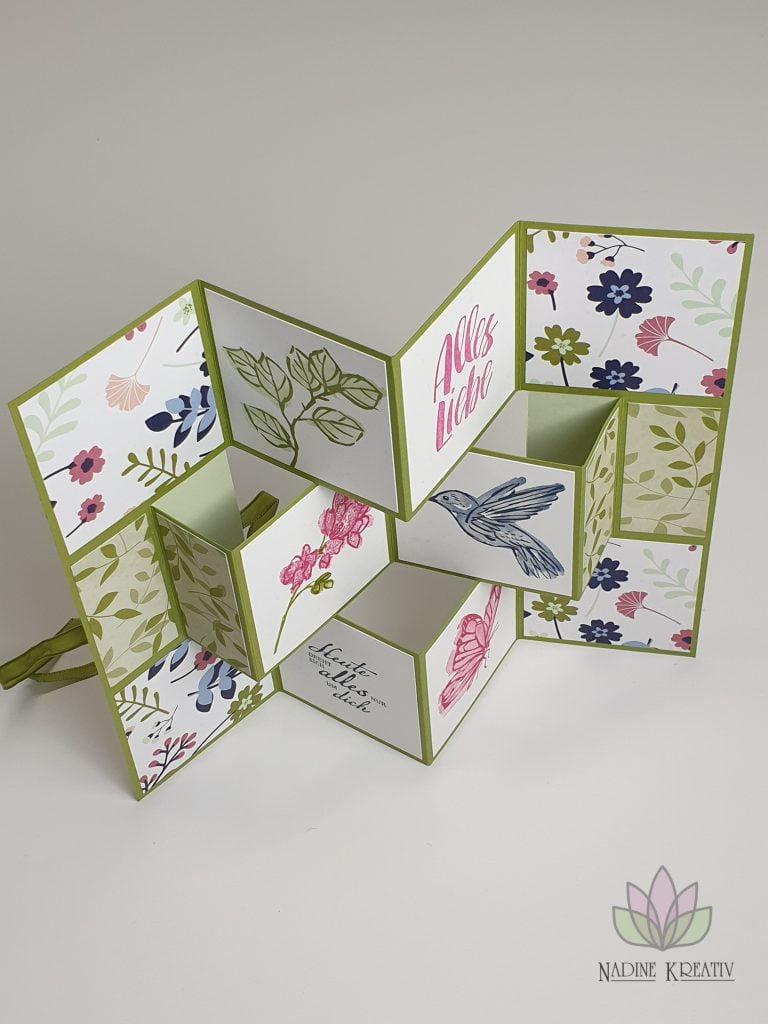 """Flip Book Card """"Papierblüten"""" 1"""
