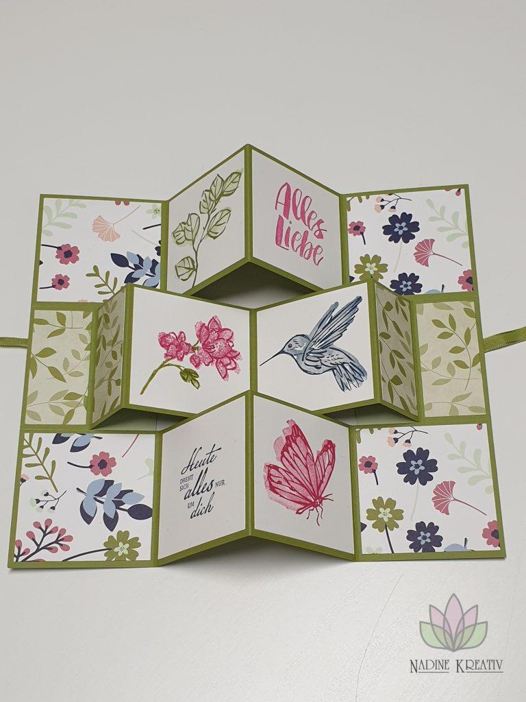 """Flip Book Card """"Papierblüten"""" 6"""