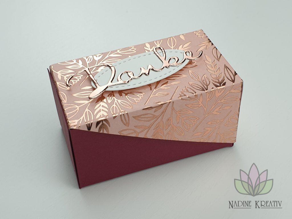 "Diagonale Box ""Danke von Herzen"" 15"