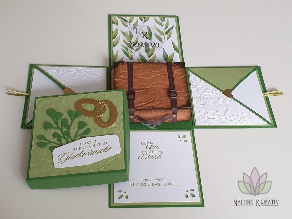 """Hochzeitskarte """"Ewiges Grün"""" 3"""