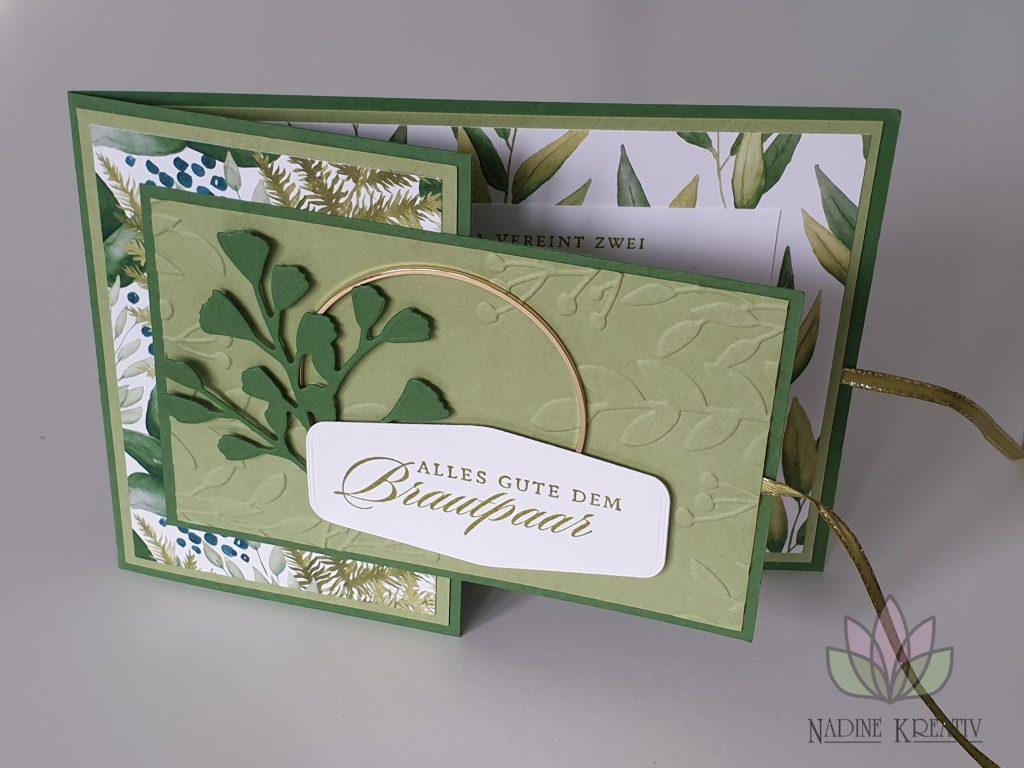"""Hochzeitskarte """"Ewiges Grün"""" 1"""