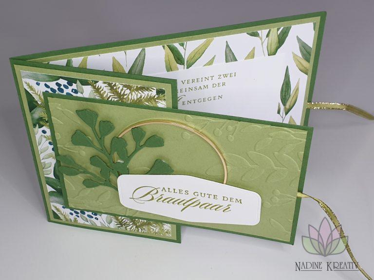 """Hochzeitskarte """"Ewiges Grün"""" 14"""