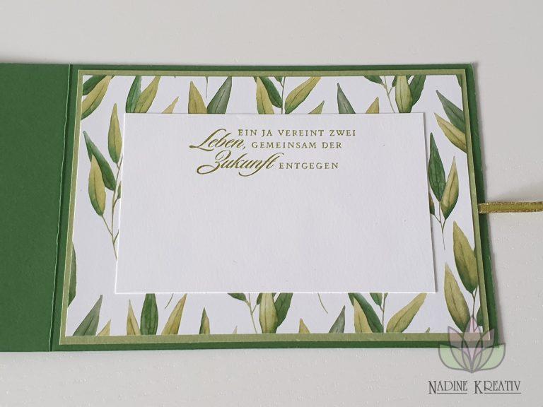 """Hochzeitskarte """"Ewiges Grün"""" 15"""