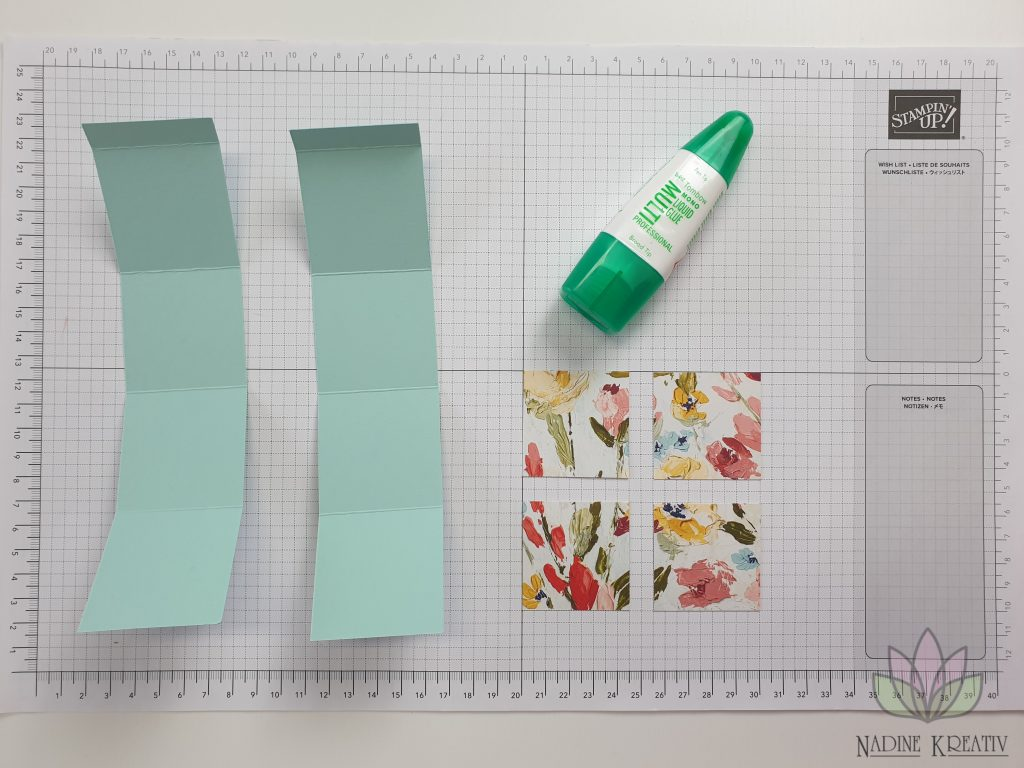 "Triple Pop-up Cube Card ""Kunstvoll Floral"" 5"