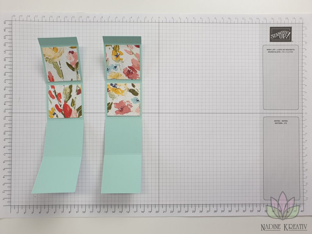 "Triple Pop-up Cube Card ""Kunstvoll Floral"" 6"