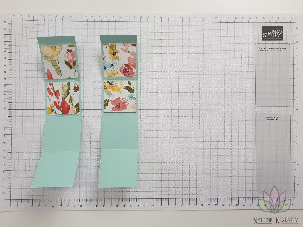 "Triple Pop-up Cube Card ""Kunstvoll Floral"" 6"