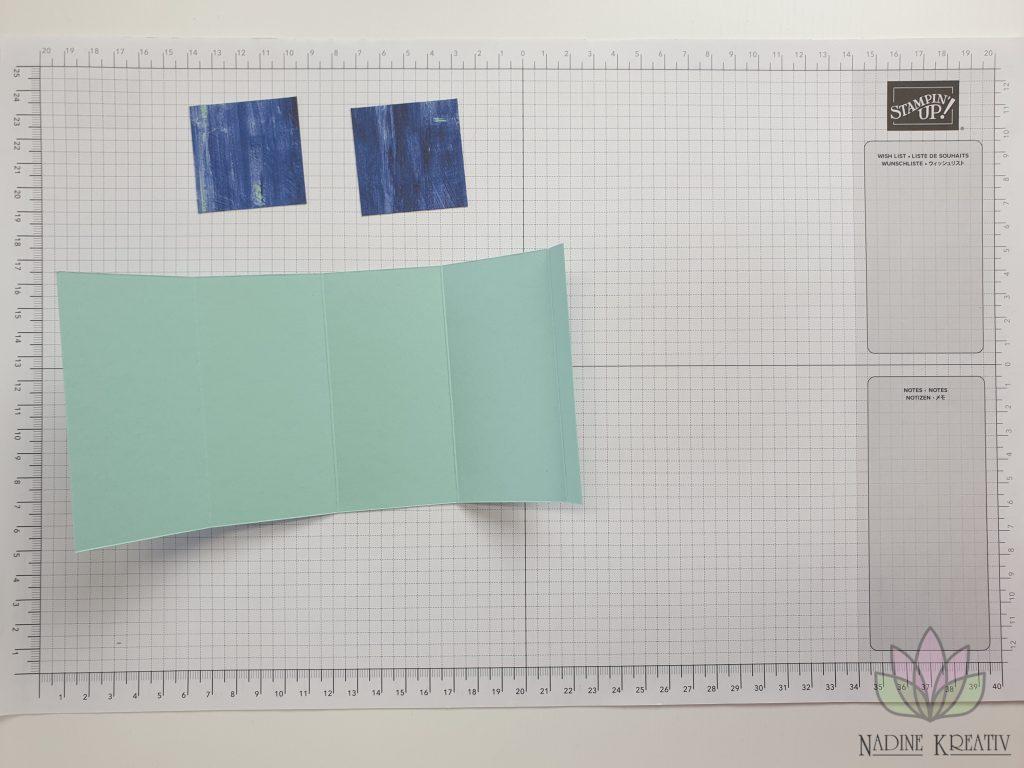 "Triple Pop-up Cube Card ""Kunstvoll Floral"" 7"