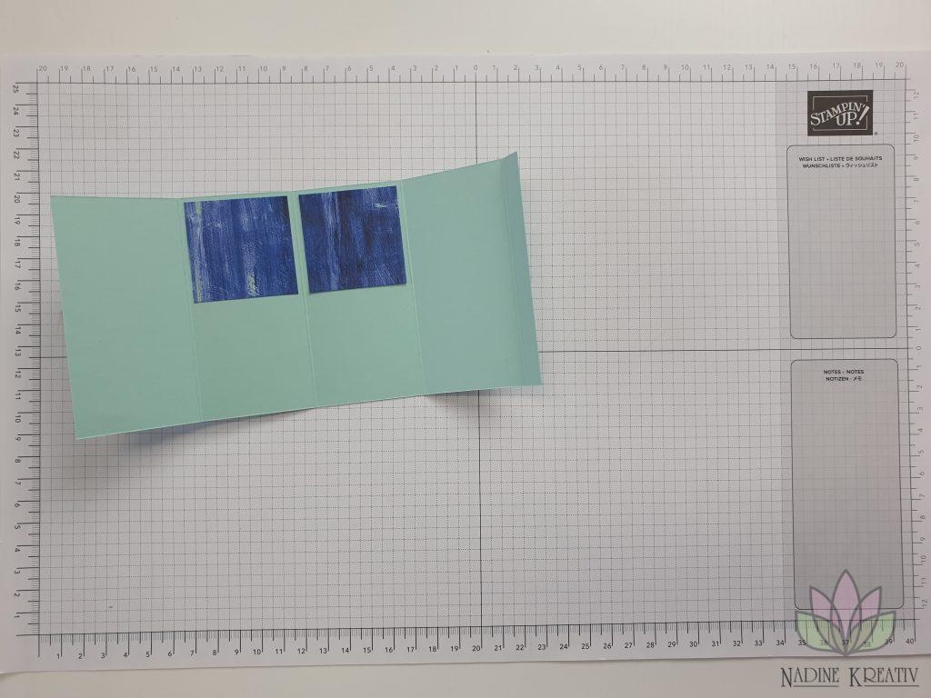 "Triple Pop-up Cube Card ""Kunstvoll Floral"" 8"