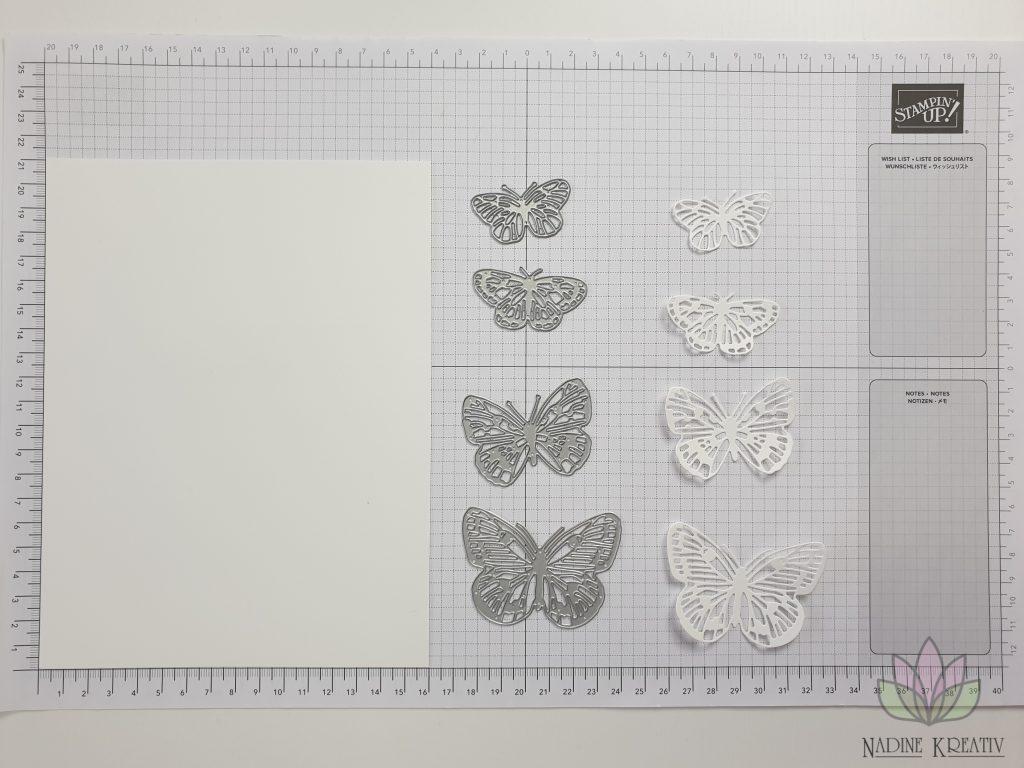 "Triple Pop-up Cube Card ""Kunstvoll Floral"" 17"