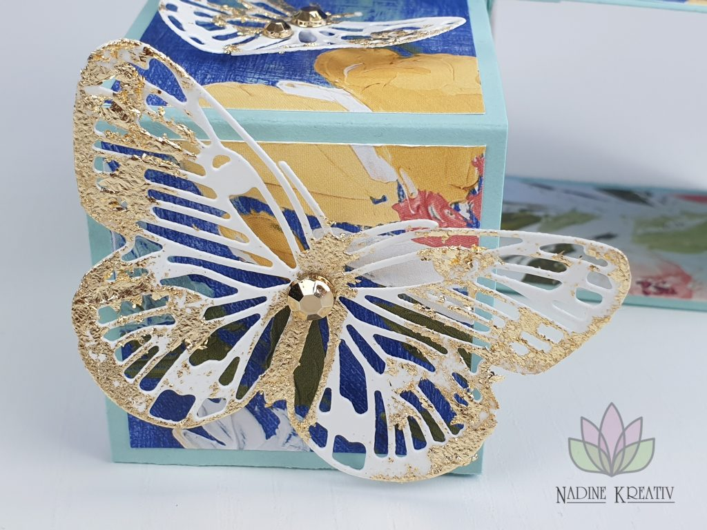 "Triple Pop-up Cube Card ""Kunstvoll Floral"" 23"