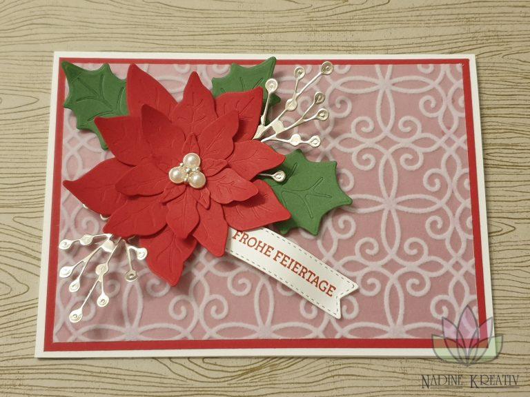 """Weihnachtskarte """"Weihnachtsstern"""" 9"""